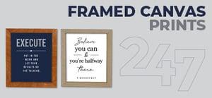 Framed Canvases Data Sheet