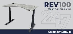 REV100 Height-Adjustable Desk Assembly Instructions