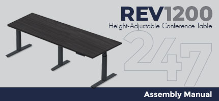 REV1200 Height-Adjustable Conference Table Assembly Instructions