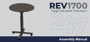 REV1700 Height-Adjustable Workstation Assembly Instructions