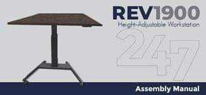 REV1900 Height-Adjustable Workstation Assembly Instructions