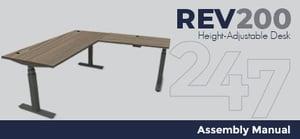 REV200 Height-Adjustable Desk Assembly Instructions