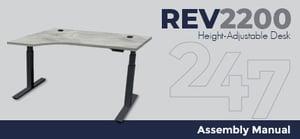 REV2200 Height-Adjustable Desk Assembly Instructions