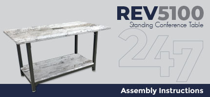 Standing Conference Table Assembly Instructions