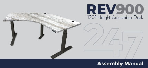 REV900 120 Degree Height-Adjustable Desk Assembly Instructions