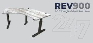 REV900 120 Degree Height-Adjustable Desk Data Sheet