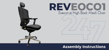 REVEOC01 Executive High Back Mesh Chair Assembly Instructions