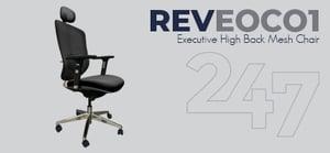 REVEOC01 Executive High Back Mesh Chair Data Sheet