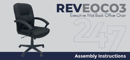 REVEOC03 Executive Mid Back Office Chair Assembly Instructions