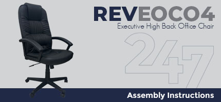 REVEOC04 Executive High Back Office Chair Assembly Instructions