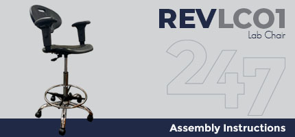 REVLC01 Lab Chair Assembly Instructions