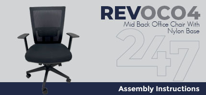 REVOC04 Mid Back Office Chair - Nylon Assembly Instructions