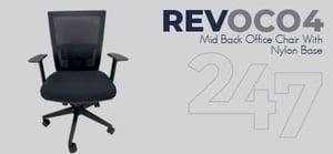 REVOC04 Mid Back Office Chair - Nylon Data Sheet