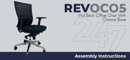 REVOC05 Mid Back Office Chair - Chrome Assembly Instructions