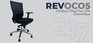 REVOC05 Mid Back Office Chair - Chrome Data Sheet
