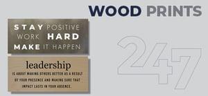 Wood Prints Data Sheet